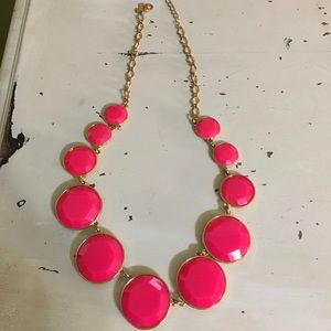 Kate Spade hot pink statement necklace